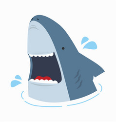 cute shark with open mouth vector image