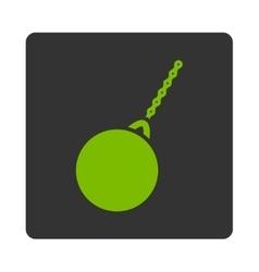 Destruction hammer icon vector image