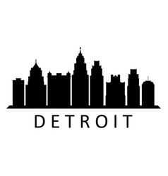 Detroit skyline vector