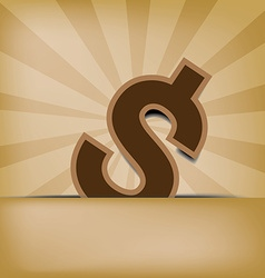Dollar on old background vector