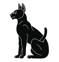 Egyptian sphynx cat vector
