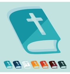 Flat design bible vector