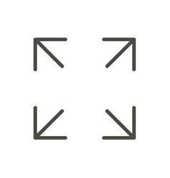 full screen icon line maximize symbol vector image