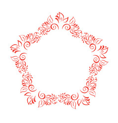 hand drawn floral autumn design elements wreath vector image