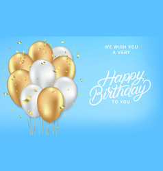 happy birthday realistic card vector image