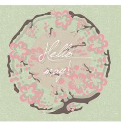 Hello Spring May card vector