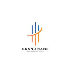 Investment line logo design vector