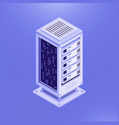 isometric template database server vector image