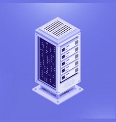 Isometric template of database server vector