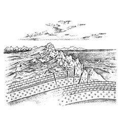 Lithosphere and structure earth vector