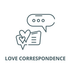 love correspondence line icon linear vector image