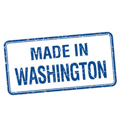 Made in washington blue square isolated stamp vector