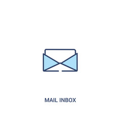 Mail inbox concept 2 colored icon simple line vector