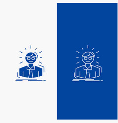 manager employee doctor person business man line vector image