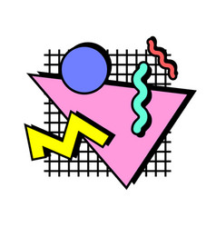 memphis composition background vector image