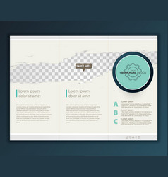 Modern tri-fold brochure design template vector