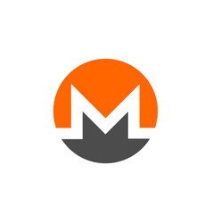 Monero coin symbol logo vector