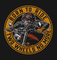 Motorcycle vintage round colorful badge vector