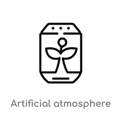 Outline artificial atmosphere icon isolated black vector
