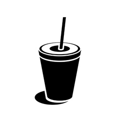 Paper cup icon simple style vector image