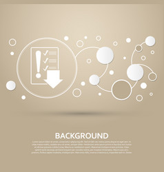 Pictograph of checklist icon on a brown vector