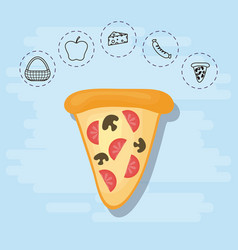 pizza for family summer picnic vector image