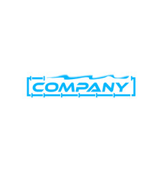 plumbing design logo template vector image