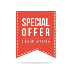 price label spesial offer sale style design vector image