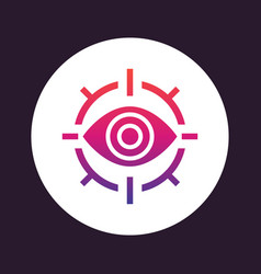 Retina scan icon eye scanner vector