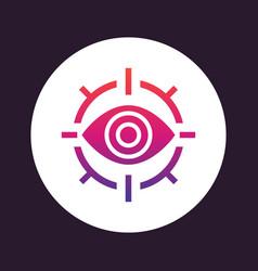 retina scan icon eye scanner vector image