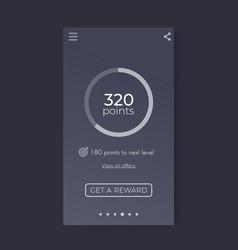 Reward app interface mobile ui design vector