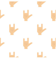 Rock gesture pattern seamless vector
