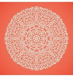 Round mandala lace ornamental background vector image