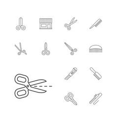 Scissors icons vector