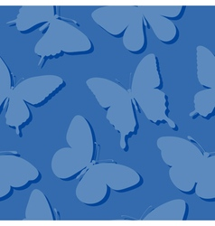 seamless background with butterflies silhouettes vector image