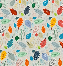 Seamless Pattern - Autumn Leaves vector image