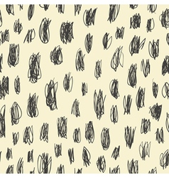 Seamless pattern doodles scribbles vector