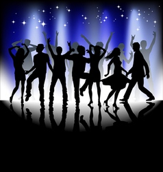 Several people are dancing silhouette vector
