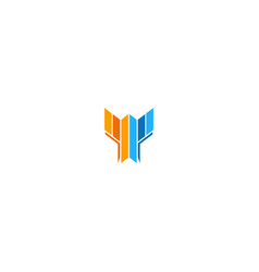 shape colored initial company logo vector image