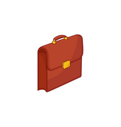 sketch briefcase business case bag icon vector image