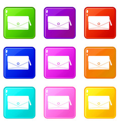 small bag icons 9 set vector image