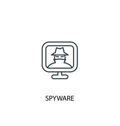 Spyware concept line icon simple element vector