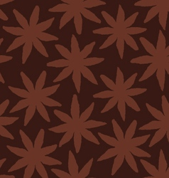 Star Anise Seamlessly Repeating Texture Background vector image