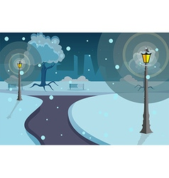 Street lights background vector