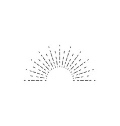 sunburst icon sunburst best quality star firework vector image