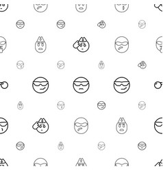 Sunglasses icons pattern seamless white background vector