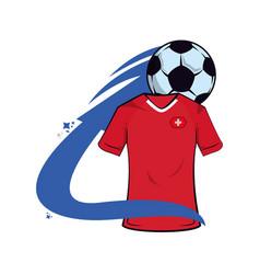 Swiss soccer tshirt vector