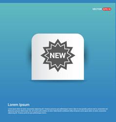 tag icon - blue sticker button vector image