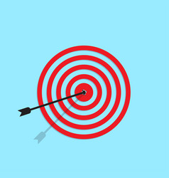 Target icon in shape with a blue background vector