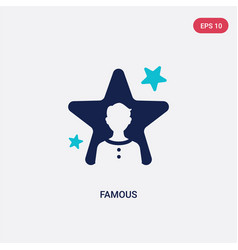 Two color famous icon from blogger and influencer vector